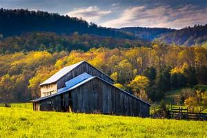 Old Barn And Spring Colors In The Shenandoah Valley