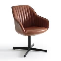 fauteuil de bureau rotatif hiba cognac la redoute interieurs la redoute