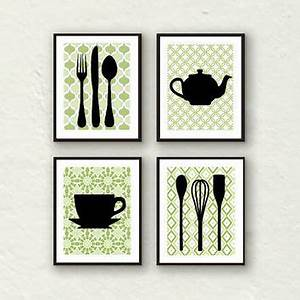 best teapot prints products on wanelo With best brand of paint for kitchen cabinets with multi piece wall art decor