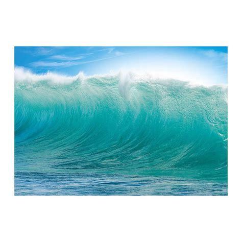 ikea premiar hawaii waves blue wall art print huge surfer