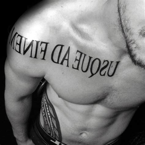 60 Latin Tattoos For Men  Ancient Rome Language Design Ideas