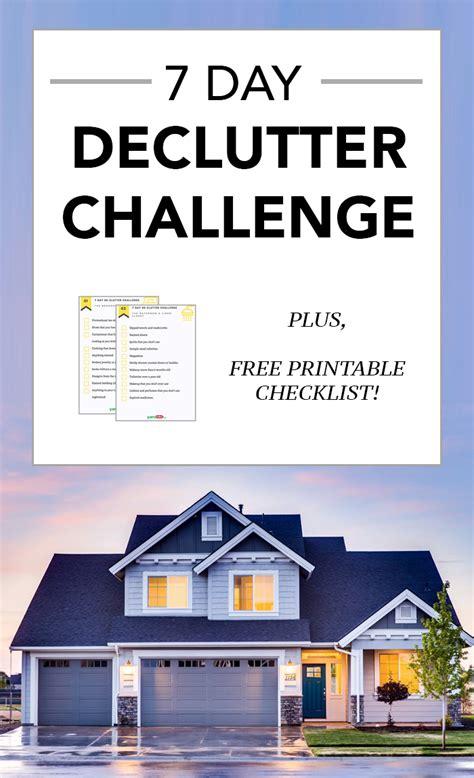day decluttering challenge  checklist