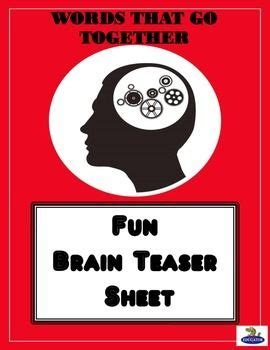 critical thinking brain teasers  word games