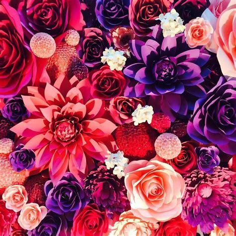 paper flower murals flower murals