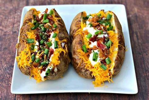 potatoes baked fryer air loaded stuffed recipes easy potato twice header them staysnatched