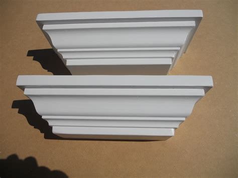 crown molding shelf white wall shelves crown molding shelf set of 2