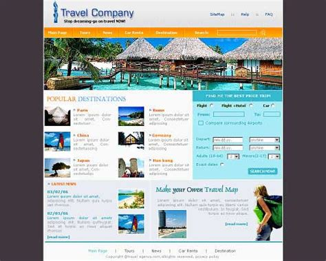 Left Side Menu Free Css Template Easy Css Menu And 73 More Travel Website Template 25 Designs To