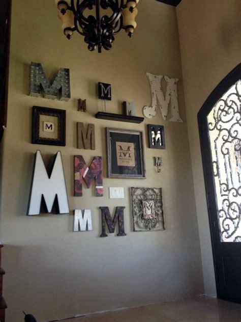 creative monogram wall art ideas