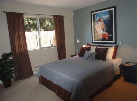 deco chambre bleu et marron décoration petit studio en 60 idées magnifiques