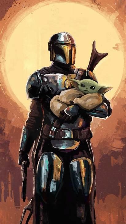 Mandalorian Yoda Background Phone Resolution Wars Star