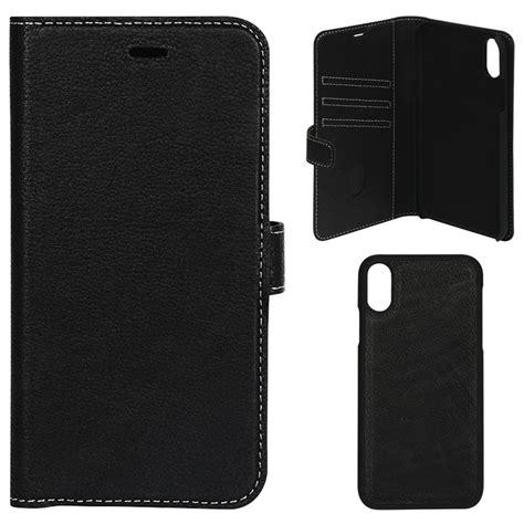 Essentials Detachable iPhone XR Wallet Leather Case