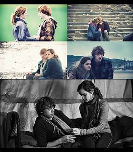 Ron and Hermione. My favorite love story.   Harry Potter ...