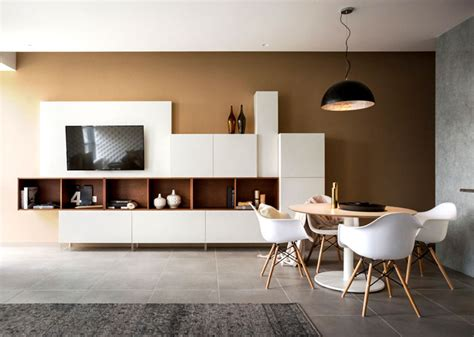 studio apartment  warm organic color scheme