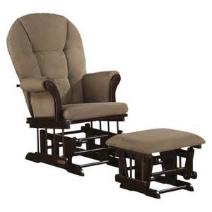 shermag alexis glider rocker and ottoman combo target