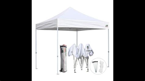 eurmax  ez pop  canopy tent commercial instant tent  wheeled bag white youtube