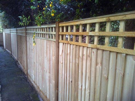 Feather edge fencing with trellis. - Green Fingers Dirty Boots