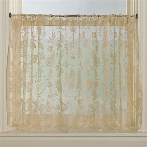 prime kitchen curtains rhapsody ecru tier 2 macrame lace curtains prime curtain