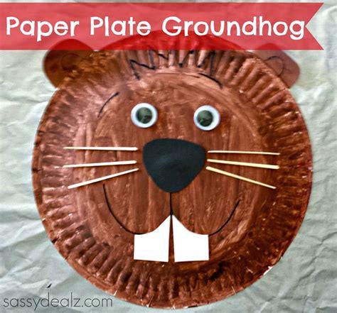 groundhog paper plate craft for groundhogs day 478 | de2556bf77e0ef3941619969cca69e13