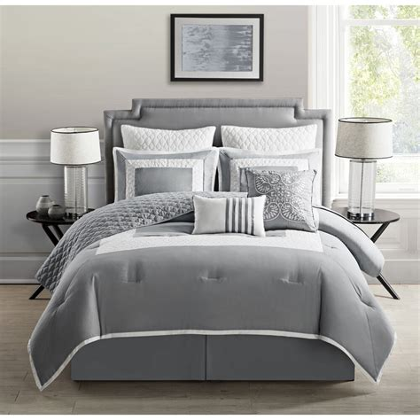 Grey Coverlet by Vcny 9 Comforter Set With Coverlet Ebay