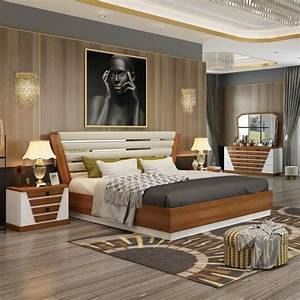 China, Classic, Modern, Bedroom, Furniture, With, King, Size, Bed, 201