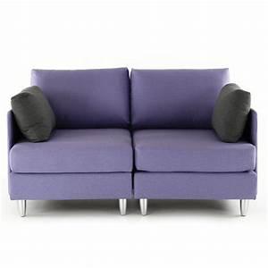 canape 2 places violet coussins gris leggos mooviin With canapé 2 places violet