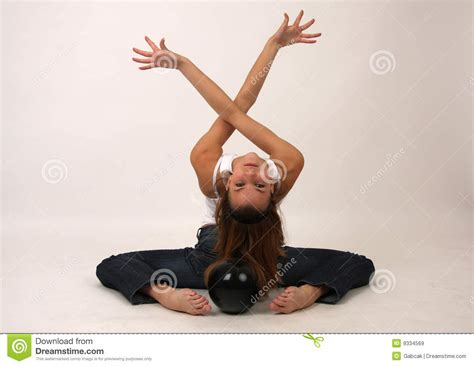 Elegant Young Flexible Woman Royalty Free Stock Images