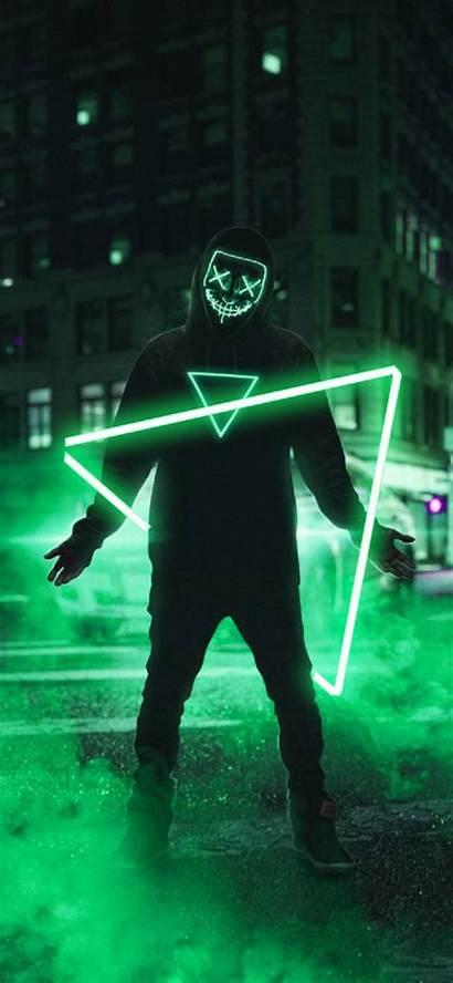 Neon Mask Smoke Zedge 4k
