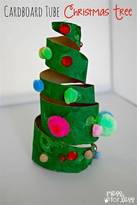 Christmas Crafts For Kids  Cardboard Tube Christmas Tree