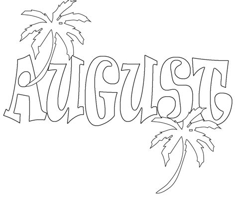 august coloring pages preschoolers  adultsprintable