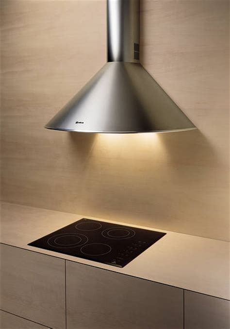 Elica Concept Chimney Hoods Stainless Rounded