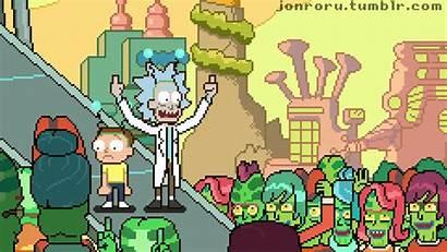Rick Morty Peace Among Worlds Title