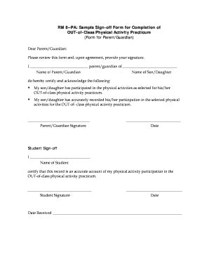 Training Completion Sign Off Sheet Template by Training Sign Off Sheet Template Forms Fillable
