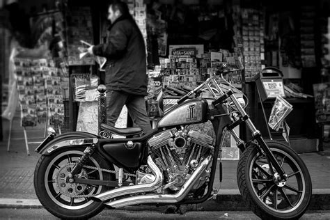 Grayscale Photo Of A Cruiser Motorcycle · Free Stock Photo