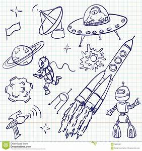 Space Doodles Stock Image - Image: 16455321