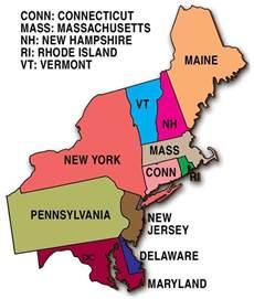 State United Northeast Region Map