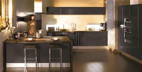cuisine images davaus cuisine gris anthracite et bois avec des