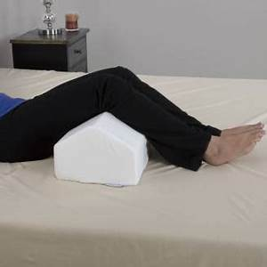 memory foam wedge pillow elevating leg knee cushion back With best knee pillow for back pain