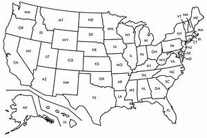 Best Photos of Blank Map Of America - Blank Outline Map ...