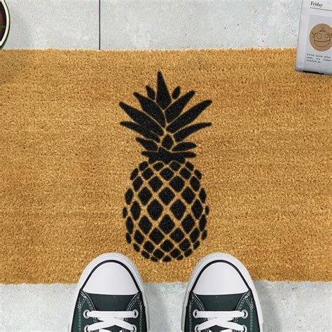 pineapple door mat buy artsy doormats pineapple door mat amara