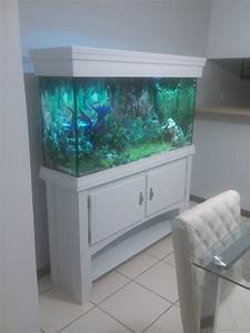 Aquarium Stand Repairing  Remodeling And Diy Canopy With Led Lights  The 60gal Tank Had A Black