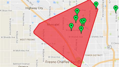 power knocked   thousands  fresno due  fatal