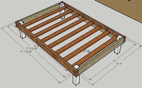 Full Size Bed Frame Plans Pdf Woodworking Measurements Of