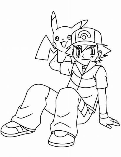 Pokemon Coloring Colorear Ash Dibujos Ausmalbilder Malvorlagen