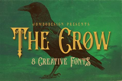 crow vintage style font display fonts creative