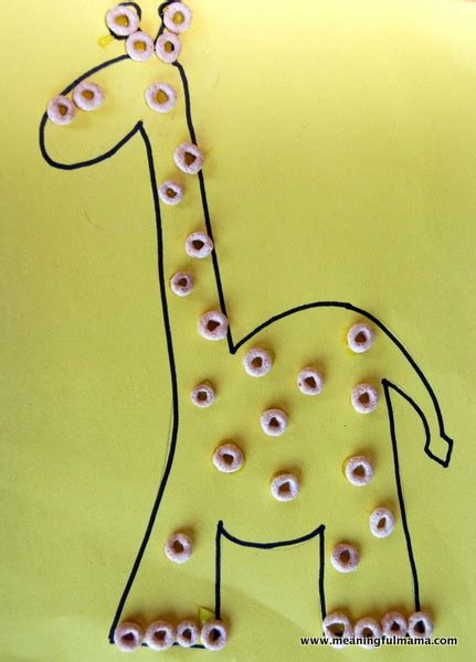 cheerios giraffe fun family crafts