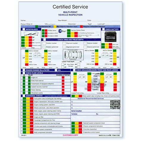 gm certified vehicle inspection forms auto dealer forms