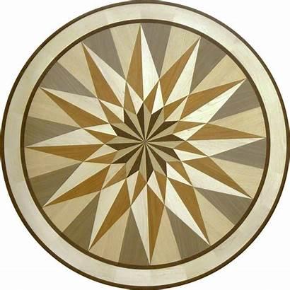 Medallion Custom Wood Star Floor Medallions Designs