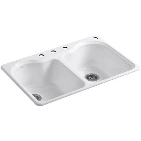 kohler cast iron kitchen sink kohler hartland drop in cast iron 33 in 4 8811