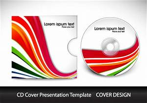 cd cover presentation vector template material 08 vector With cd cover design template free download