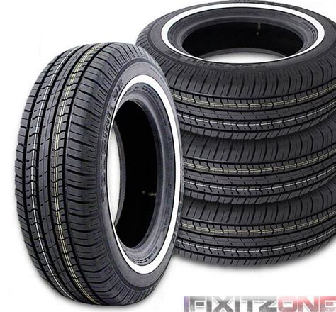 2 milestar tires ms775 215 70r15 97s a s white wall 215 70 15 2157015 new ebay
